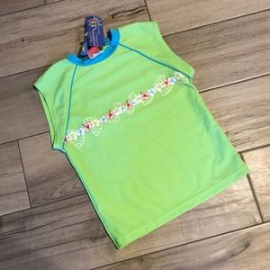 Lime Green Sleeveless Rashguard